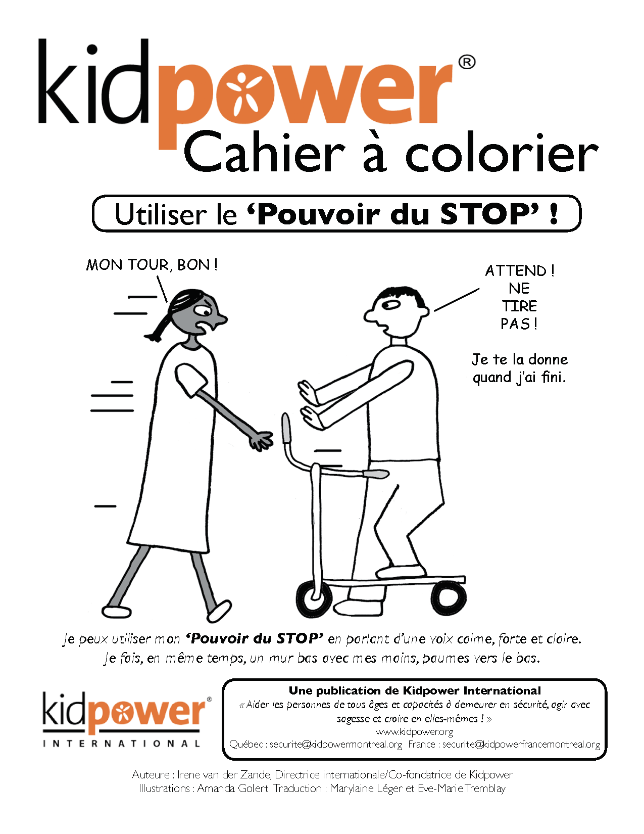 Livret : Cahier à colorier Kidpower