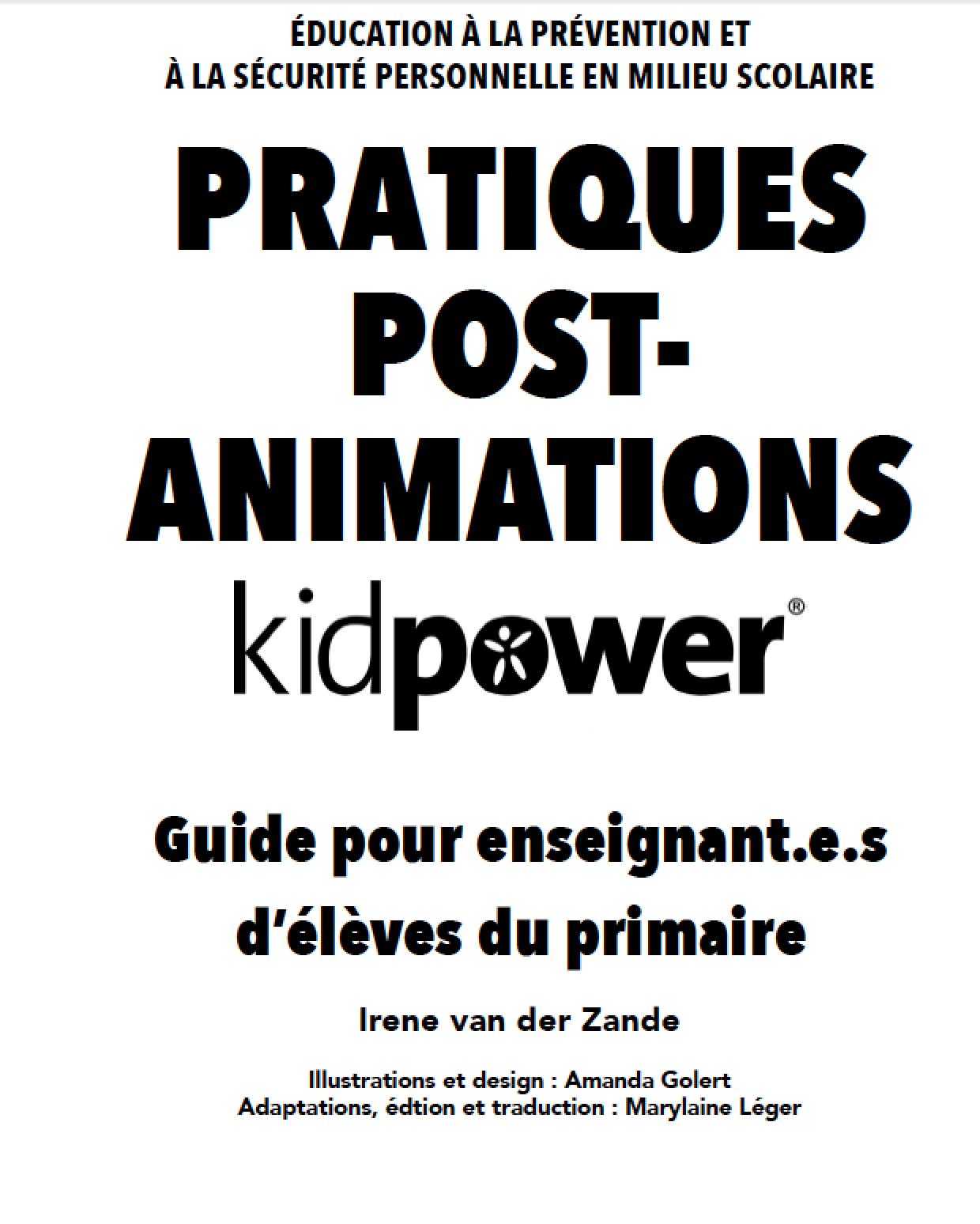Protégé : Guide des pratiques en classe – post-animations Kidpower